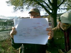 Provisorische Karte auf der dritten Tour